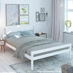 Wooden Bed Frame Modern Bedroom Double King Size Pine Bed Bedstead 4ft 4ft6 5ft