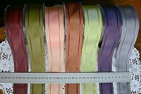 SOLID IRIDESCENT Edge Lines Stitched Ribbon 38mm wide 7 Unique Colour ChoiceCRD1
