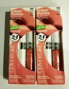 Lot of 2, Covergirl All-Day Custom Reds Lip Color, 700 Starlit Pink