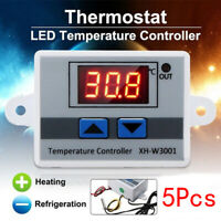 5Pcs XH-W3001 Digital Control Temperature Microcomputer Thermostat Switch KY