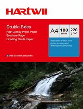 A4 220Gsm Double Sided High Gloss Photo Paper Inkjet Paper Printing - 100 Sheets