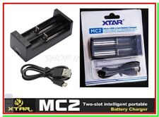 CARICABATTERIE XTAR MC2 USB x 18650 PANASONIC SONY VTC5 SAMSUNG LG Litio Lithium