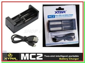 caricabatterie litio per pile ricaricabili XTAR MC2 x 14500 18650 21700 26650