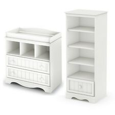 South Shore Savannah Changing Table and Shelving Unit with Drawer NEW