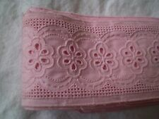 Vintage-beautiful-embroidered lace Cotton pink Colour
