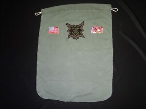 Vietnam War US 5th SFGrp CCC RECON Team GOOD GRIEF Green OD Barrack Laundry Bag