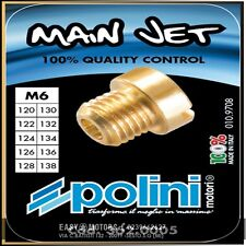 POLINI 362.0005 SET 10 GETTI DELL'ORTO 6 mm. DAL 120 AL 138 (increm.2)