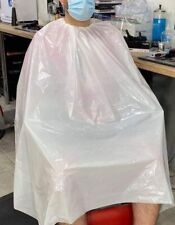 Disposable Barber Gown Hairdresser Cape Salon Plastic Apron 25 Micron 80x140 cm