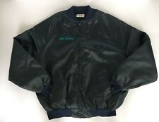 Vintage Satin Bomber Jacket S&S Taxidermy XL Made In USA Hunt Deer