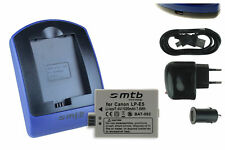 Baterìa+Cargador (USB) LP-E5 para Canon EOS 450D, 500D, 1000D