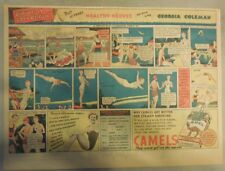 Camel Cigarette Ad: Diving Champ Georgia Coleman Half Page Size