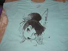 4XL Tinkerbell Blue Fairy Good Life Disney Tee Shirt NWT