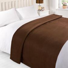 Dreamscene Large Warm Polar Fleece Throw Over Soft Blanket Luxury Plain Sofa Bed