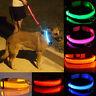LED Nylon Pet Dog Collar Night Safety LED Light-up Flashing Glow in Dark Safety