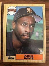 1987 Topps Chili Davis San Francisco Giants 672