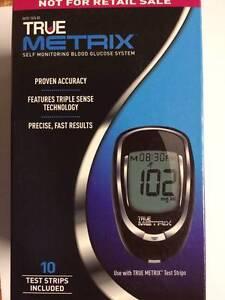 True Metrix Blood Glucose Meter System Complete kit Including 10 Test Strips