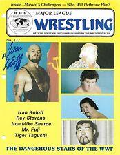 Ivan Koloff Signed 1983 WWF Pro Wrestling Event Program BAS COA WWE Autograph