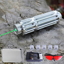 532nm Green Laser Pointer Pen Teaching-aid Laser Tool w/ 5 Star Cap + Charger
