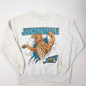 VTG NUTMEG Jacksonville Jaguars Unisex Sweatshirt Gray Heathered Vintage 1993 M