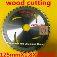 TCT saw blade 125mmX1.8X20(washer to 10mm)X40T wood plastics cut  good saw blade