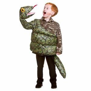 Kids Snake Costume Giant Anaconda Green Boa Constrictor Halloween Fancy Dress