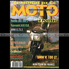LE MONDE DE LA MOTO N°148-b BMW K100 LT K75 S HONDA CX 500 C KAWASAKI KLR 650 87