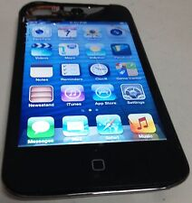 Apple iPod Touch 4th Generation Black 8 GB MP3 Player For Parts Cracked Glass