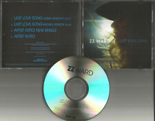 ZZ WARD Last Love Song RARE MIXTAPE version & SPOKEN WORD INTROS PROMO CD Single