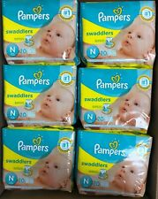 Pampers Swaddlers Tab Closure Disposable Newborn Baby Diaper Pack of 240 NEW