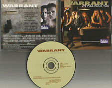 WARRANT We Will Rock You 1992 USA PROMO DJ CD single QUEEN Remake Cover trk