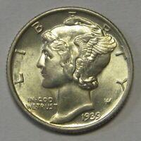 1939 Silver Mercury Dime Grading GEM BU Priced Right FREE S&H  p9