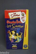 LOS SIMPSONS (The Simpsons) 2 VHS NIB, Vol. 1-1999, BART WARS/GRANDES EXITOS