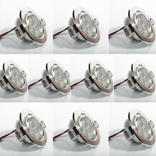 Lot 10 x Spot led downlight rond encastrable 3w blanc froid plafonnier encastré
