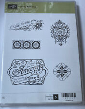 Stampin Up Lovely Romance Stamp Set Unmounted Rubber Retired