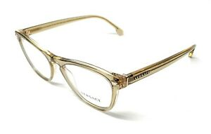 NEW VERSACE VE 3260 5271 TRANSPARENT YELLOW AUTHENTIC EYEGLASSES FRAME 51-17