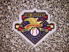2001 AL 100 Anniversary Patch jersey yankees mariners white red sox world series