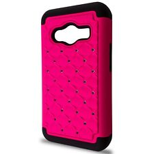 CoverON® for Samsung Galaxy Ace NXT Case - Hybrid Diamond Hard Hot Pink Cover