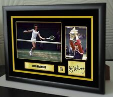 "John McEnroe Limited Edition Framed Canvas Tribute Print Signed ""Great Gift"""