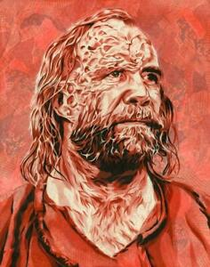 """Game of Thrones Portrait of the Hound Limited Archival Print Art 16"""" x 20"""