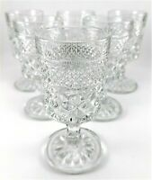 6 Vintage 2oz Anchor Hocking Wexford Stemmed Wine Water Glass Goblets