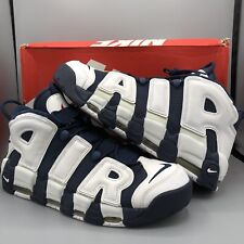 new products f44a2 896c0 Nike Air More Uptempo Olympics Navy Blue White Red 96 Pippen 414962-104  Size 13