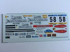 1/43 DECAL RACING 43 FIAT PUNTO N° 58 RALLY CATALOGNE 2001 ESPAGNE 2001