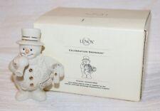 "Lenox ""Celebration Snowman"" Handcrafted Fine Porcelain Figurine, Original Box"
