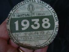 BOLLO RACI 1938 REALE AUTOMOBILE CLUB D'ITALIA MOTO GUZZI FRERA ALFA ROMEO ITALY