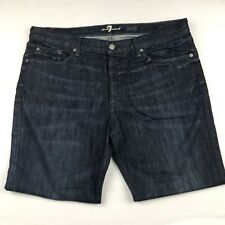 7 For All Mankind Mens Jared Dark Wash Jeans Size 36 X 28 Measures 38