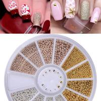 3D DIY Micro Beads Nail Art Rhinestones Caviar Tips Decor Manicure Wheel Newly