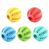 Dog Treat Ball Interactive Chew Resist Toys Teeth Cleaning Toy Molar D6M1