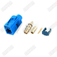 Fakra C female RF Connector 5005 Blue crimp RG316 for GPS telematics&navigation