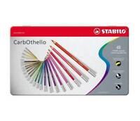 Stabilo CarbOthello Artist Pastel Chalk Colouring Pencils - 48 Colour Metal Tin