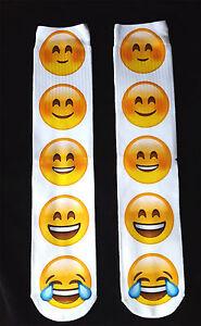 Socks Emoji Gift UK Size 5-8 OMG! 3D Emoticon Long Full Length Ladies EUR 38-42
